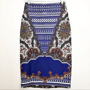ASOS Paisley Print Pencil Skirt